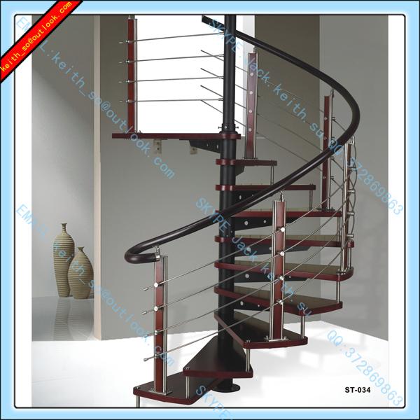 Jq 8024 rvs houten baluster ontwerpen trap rvs balusters - Trap ontwerpen ...