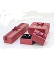 Mini joyería diseño de envases de papel reciclado de lujo boxs