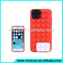 3d bloque de construcción de ladrillo de silicona caso para el iphone 6 6 plus