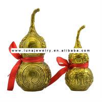 Luckly Buddha In The Brass Wu Lou,feng shui Wu Lou-Gourds