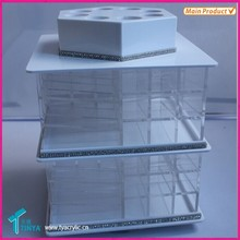 Import China Goods Plastic Makeup Organizer, Wholesale 80 Slots Acrylic Lipstick Carousel Cabinet