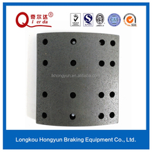 volvo parts with heat resistant safety brake lining