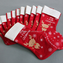 2015 new style Handmade christmas stocking/sock,Xmas decoration