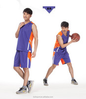 Double-side basketball jersry sportswear supplier mesh fabric wholesale plain basketball wear customize
