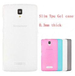Soft ultra thin 0.3mm Invisible transparent silicone rubber slim tpu gel case for lenovo A2010 case cover