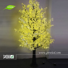 tr242 GNW 15ft Yellow large artificial decorative led christmas tree for wedding home decor interior decorating