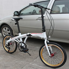 cheap aluminum alloy folding bike,7 speed folding bicycle/bikes from china