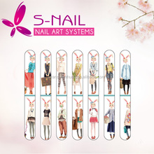 High quality manicure nail file with nail buffer, promotion eva nail files