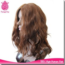fancy female star 20 inch human hair band fall lace front wig/headband