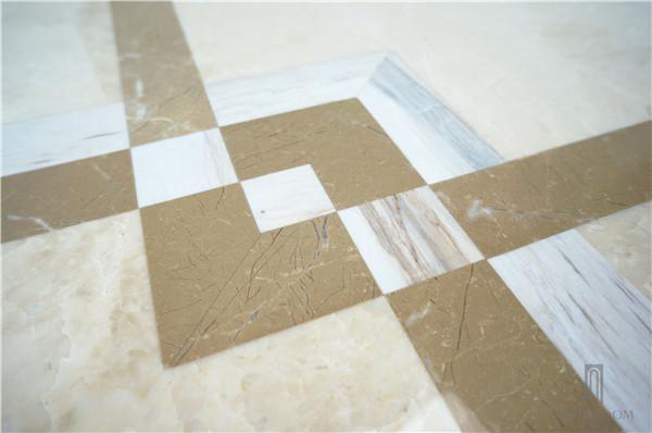 Cappuccino marble floor tiles