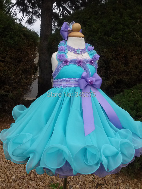 Wholesale Customize Organza Seafoam Lilac 6 Months 14 Years Baby ...