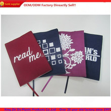 High quality cheap cotton book cover with emboridery logo
