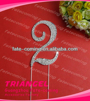 High Quality Rhinestone Number Cake Topper For Birthday