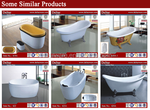 Acrylic Transparent Bathtub Copper Claw Bathtub With Feet