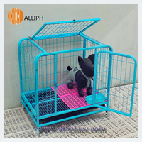 Deluxe dog cage with two door