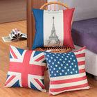 Atacado e varejo& bandeiras almofada de linho cobre casos travesseiro fronha 45x45cm