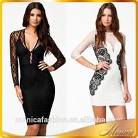 Latest Dress Designs 2015 New Summer European Neck Dress Long Sleeve Lace And Wholesale Clothing Dubai
