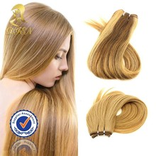 Fashion human hair extension 8-40inches blonde two tone colored brazilian hair weave