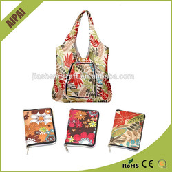New Design nylon travel bag foldable shopping bags in pouch