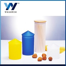 YY plastic cookie and candy jar with bamboo cover plastic jar