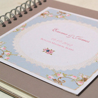 2015 beautiful custom wedding guest book