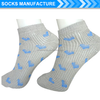 Women's pointelle pattern ankle socks with jacquard designs heart