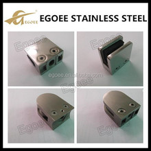 AISI 304 316 Stainless steel handrail post hanging glass clamp, pipe clamp