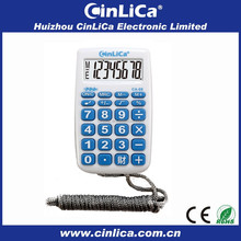 8 digits handheld calculator super mini pocket thin calculator with rope CA-68