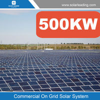 Industry use 500kw whole house solar pv system include solar cell pv modules also with on-grid inverter