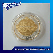 Excellent custom pad printing double sided logo challenge souvenir coin