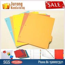 Jurong Manufacturing Cardboard tab divider JR100, folder tab dividers,index file divider