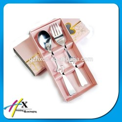 Handmade Cardboard Paper Boxes for Fork Small Paper Box for Fork And Knife Set