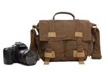 BBK-2 Waterproof Lovely Small Coffee Canvas Camera DSLR Bag Shoulder Messenger Camera Bag Professional Camera Bag