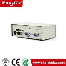 High Definition 2 Ports VGA Video Audio AV Splitter