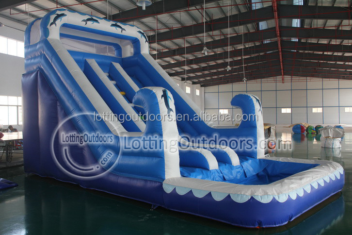 Cheap Inflatable Water Slides Prices With Pool Dolphin Inflatable Big Water Slides For Sale