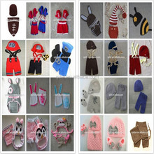 New arrival cute crochet newborn baby photo props for girls and boys