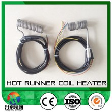 Spring Hot Runner Coil Heater with J or K type thermocouple with valve controller