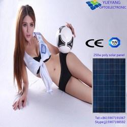 high efficiency Good Price 250w solar panel monocrystalline RV Solar Home for Solar System Power Plant with TUV