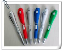 Hot-selling !!! Plastic LED light ball pen promotional pen light& ball pen with led
