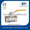 BT1014 brass ball valve with nickel plated 600 WOG DN20