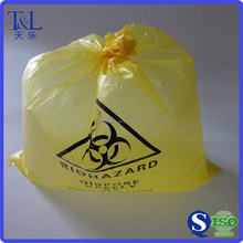Factory manufactured high quality and low price light yellow disposable star-sealed trash bag