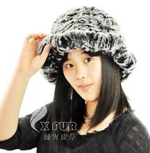 Negro cx-c-27b heladas baratos piel de conejo rex sombrero del cubo