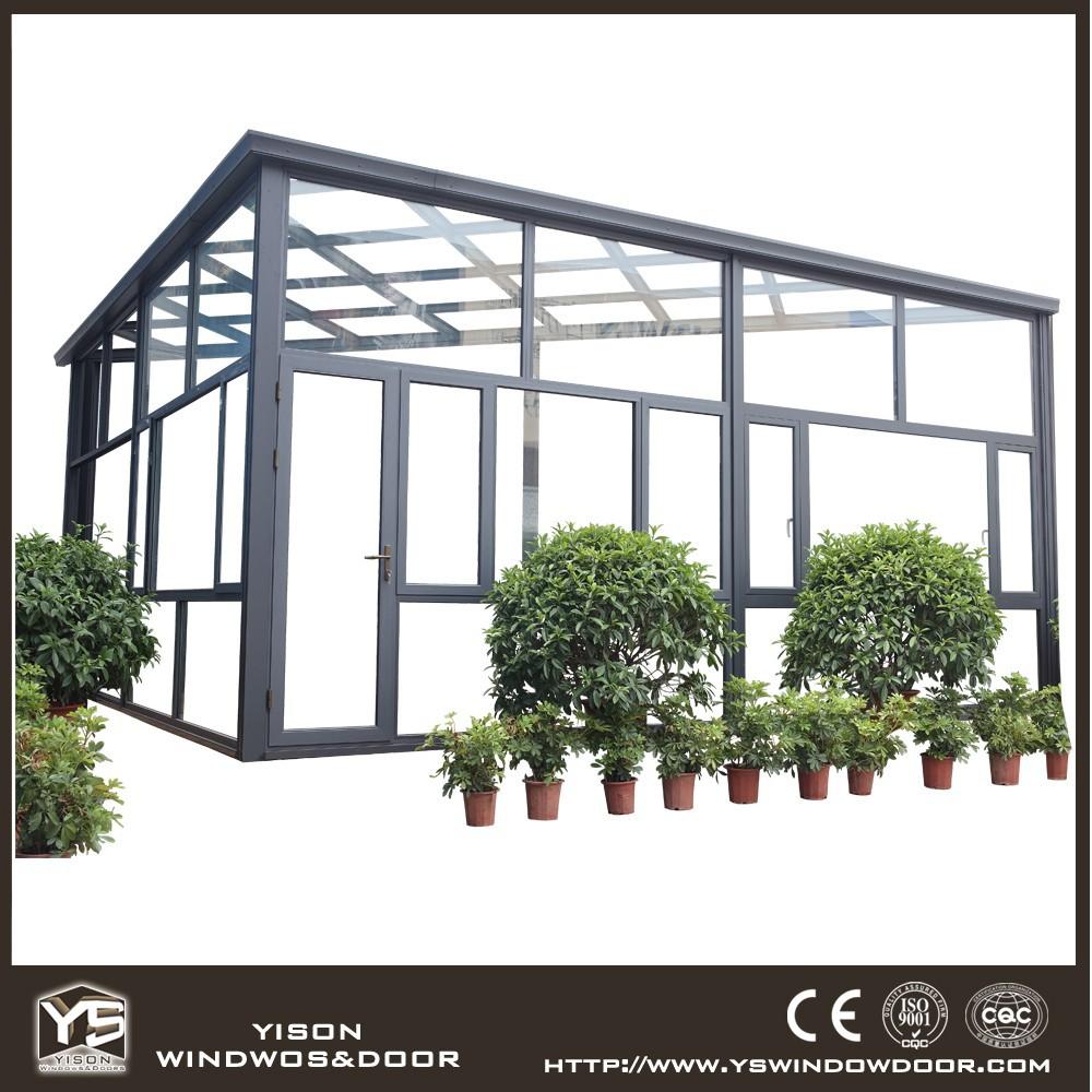 Top grade sunroom prefabricated glass sun house buy for Prefab glass house prices