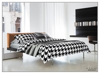Top Quality Baby Kids Black White Bedding set, 100% kids cartoon bedding set