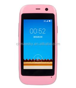 лучшие оригинал Elephone Q 2.45 '' андроид 4.4 MTK6572 двухъядерный 512 МБ RAM 4 ГБ ROM мини смартфон WCDMA дети сотовый телефон
