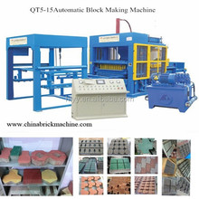 Yes Automatic and Fly Ash Brick Raw Material concrete block making machine price QT5-15