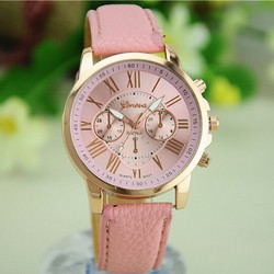 2015 New Gold Roman Numbers Geneva Watch Women Dress Watch Women Bracelet Quartz Watch Men Reloj Wristwatches Relogio Feminino
