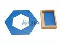 Montessori material Constructive Blue Triangles