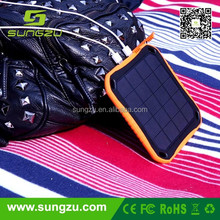 aa solar battery charger 5000mah solar power bank can be stuck on auto glass and waterproof ,crokenproof