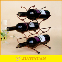 European Style Metal Crafts Wrought Iron Wine Bottle Holder for sale